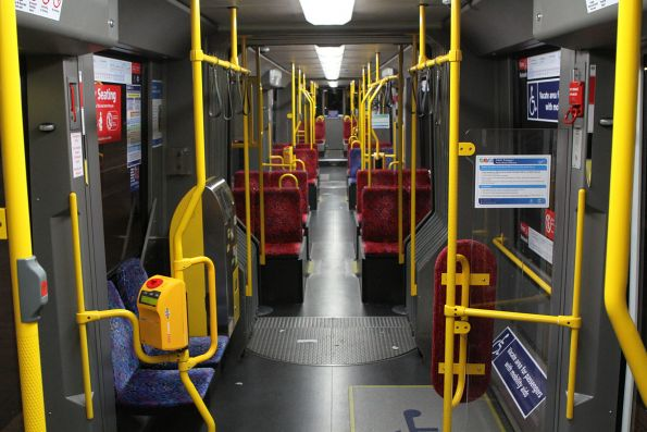 Interior of Flexity tram #110