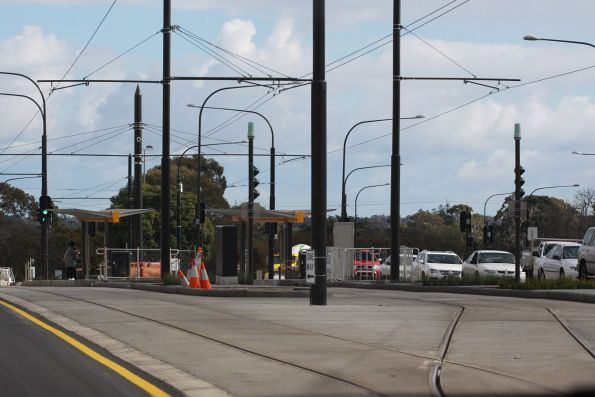 New tram extension to the Entertainment Centre at the West Terrace stop