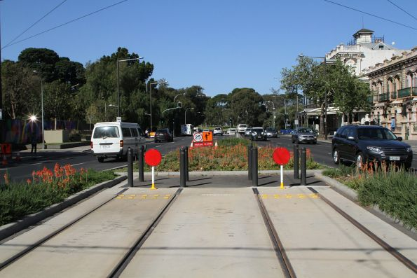 End of the line at the Botanic Gardens terminus
