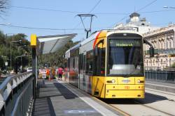 Flexity #110 at the Botanic Gardens terminus