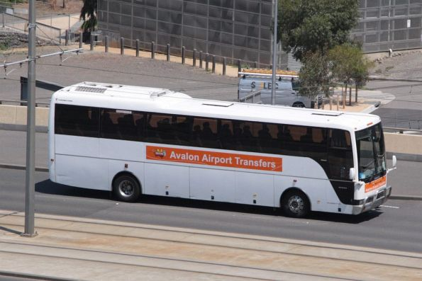 Sita 'Avalon Airport Transfers' coach on the Exhibition Street Extension