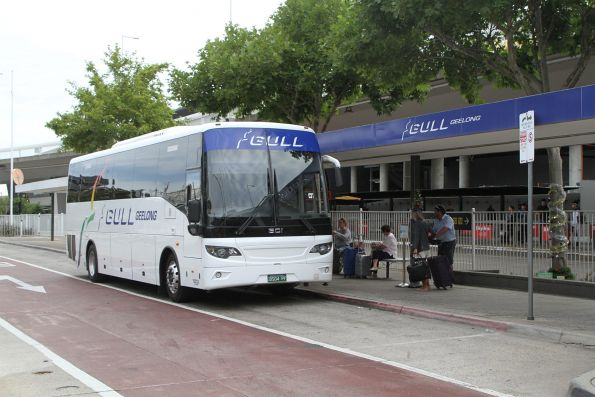 Gull coach BS04PF outside the terminal at Melbourne Airport