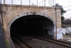 Northern tunnel portal for the Airport Line, near Central Station