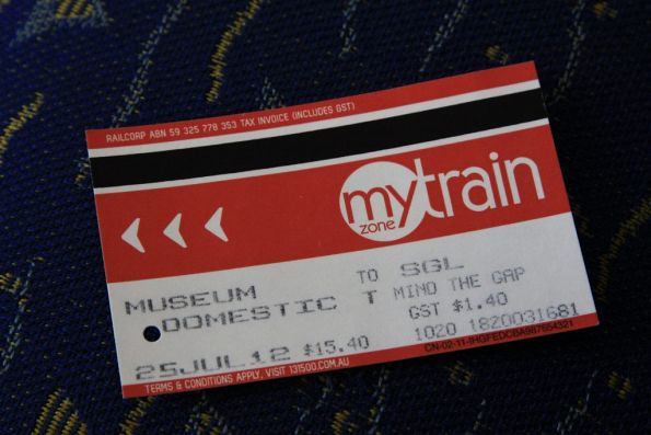 $15.40 for a ticket from Museum station to Domestic?