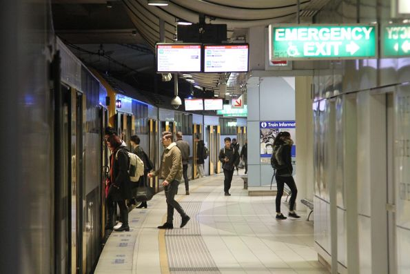 Curved platform at Green Square - a common sight on even newly built infrastructure in Sydney