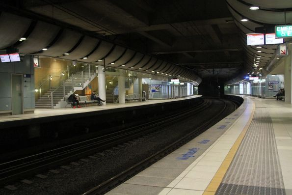 Platform level at Green Square station