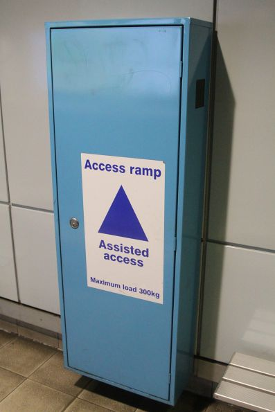 Wheelchair ramp for the use of station staff at Green Square station