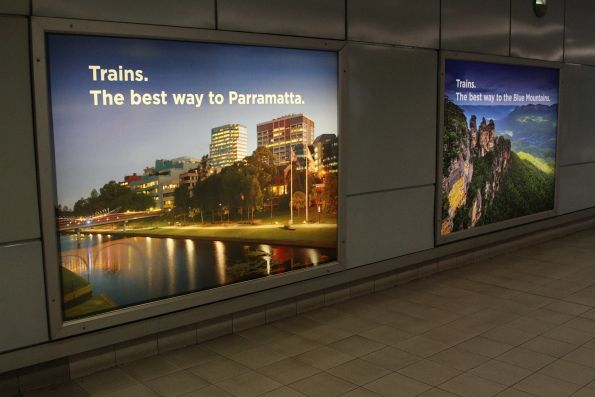 NSW Transport advertising at Domestic station