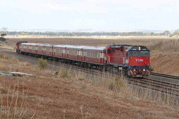 N455 leads an up push pull outside Little River