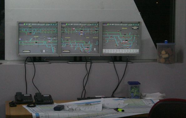Signalling displays at Lara