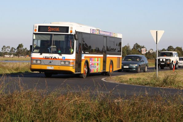 Sita Buslines rego 6311AO heads back to Melbourne after running airshow shuttles