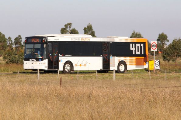 Sita bus heads back to Melbourne after running airshow shuttles