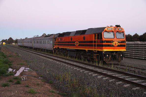 2212 stabled for the night in the siding at Inverleigh