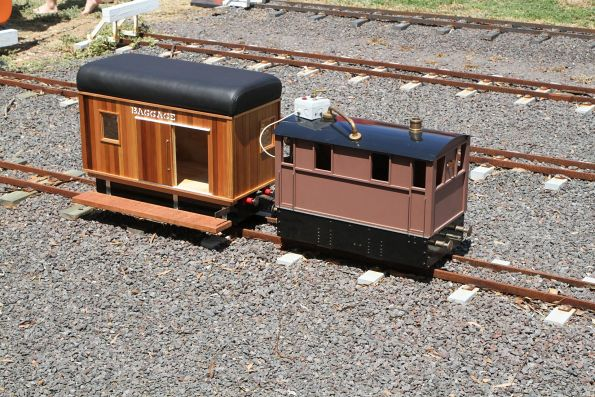 5 inch gauge tram engine and riding car