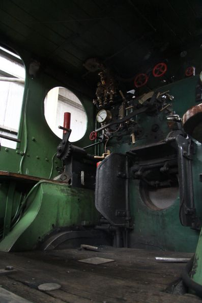 Footplate of steam loco 1210