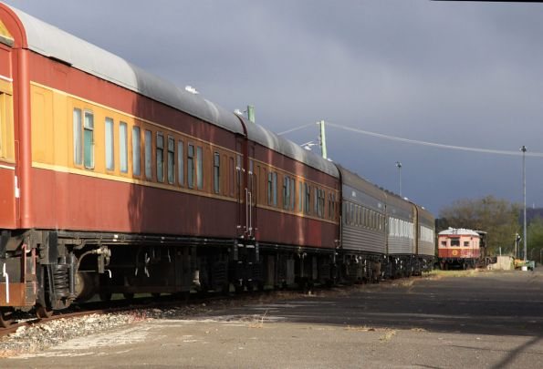 More sleeping cars, with railmotor CPH 13 up the far end