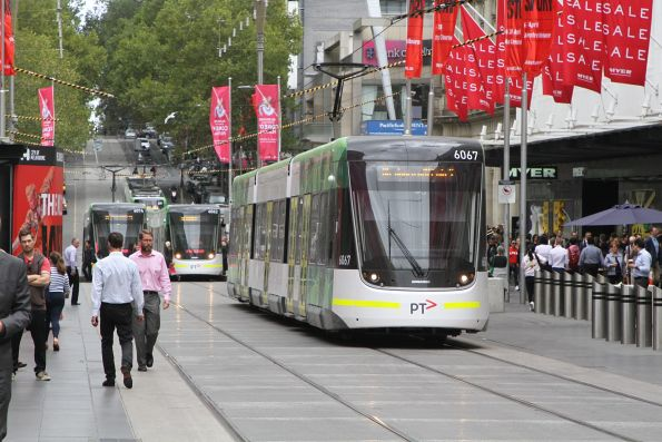 Tram E2.6067 back on the move again