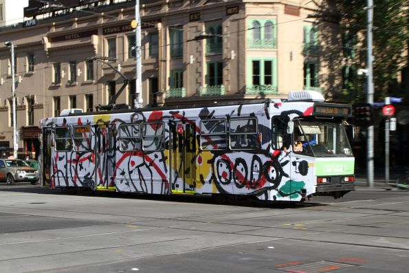 A2.273 with a design by David Larwill, eastbound on route 70 at Flinders and Swanston Street