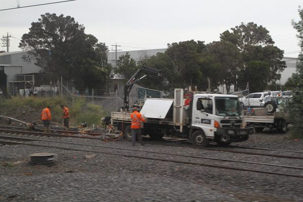 ARTC crew working on the north line at West Footscray