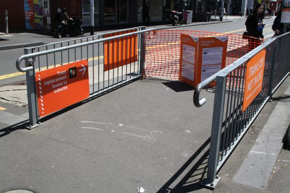 Footscray station tram stop closed due to works on route 82