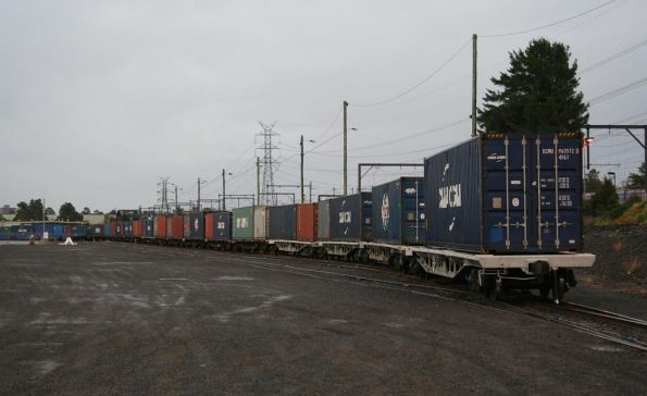 Loaded QRN container wagons in the Agents Siding at North Dynon