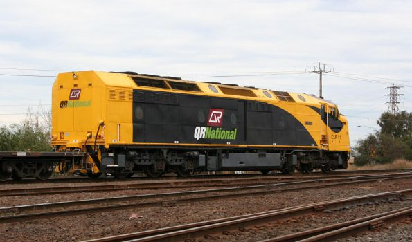 Long end of QRN liveried CLP11, shunting at North Dynon