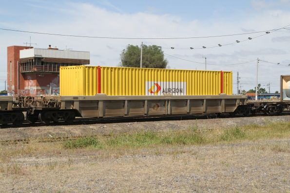 Aurizon container loaded on a QQWY well wagon