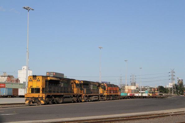LDP008, 6010 and 2202 stabled on a rake of empty wagons at North Dynon