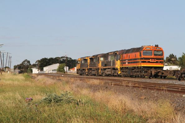 LDP009, LDP008, 6010 and 2202 on 3MN7 wagon transfer at Albion