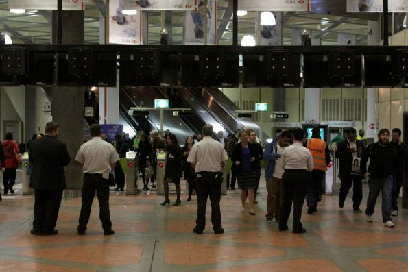 Another evening of Authorised Officers watching inbound passengers at Flagstaff station