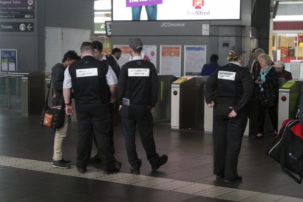 Authorised Officers in their new military-style vests
