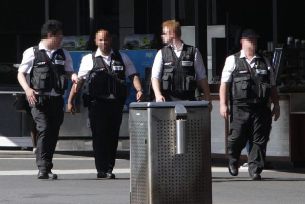 Group of four Authorised Officers in their new military-style vests