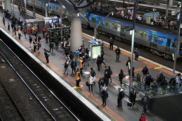 Authorised Officers on crowd control duty at Southern Cross platform 12