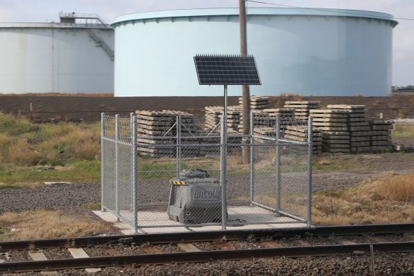 Lincoln automatic rail lubricator at Altona Junction