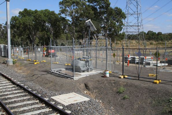 Lincoln automatic rail lubricator at South Morang