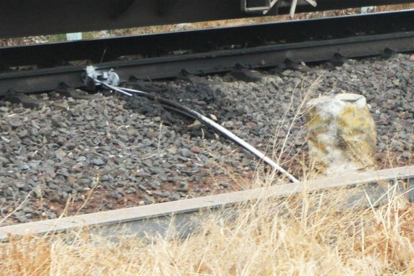 Rail lubricator on the ARTC tracks at the down end of Newport