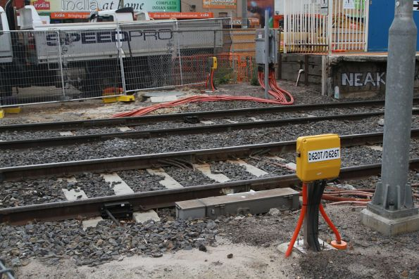 Thales axle counters installed at the Clayton Road level crossing in Clayton