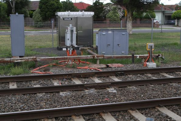 Thales axle counters installed at the Corrigan Road level crossing at Noble Park