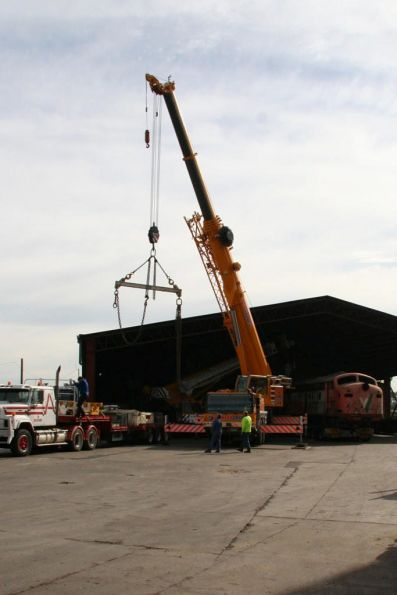 Getting the lifting gear into place