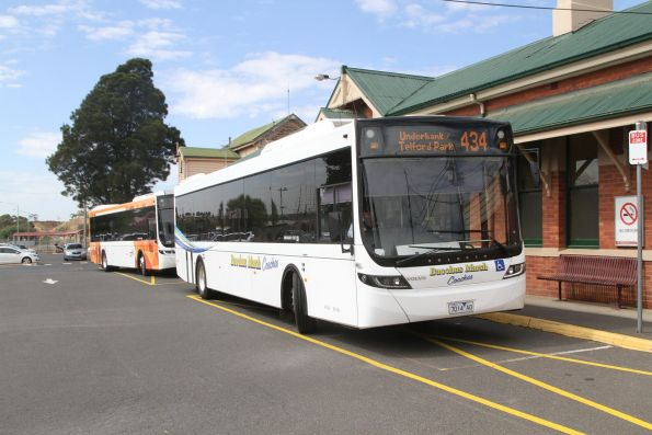 Bacchus Marsh Coaches bus 7014AO on route 434 at Bacchus Marsh station
