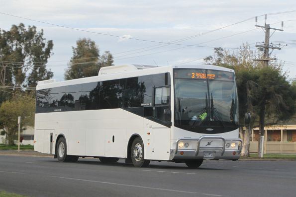 Bacchus Marsh Coaches 7412AO on a school run along Grant Street, Bacchus Marsh