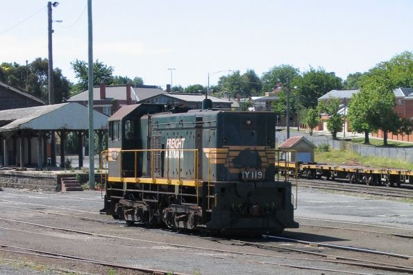 Local shunter Y119 stabled in the Ballarat goods yard