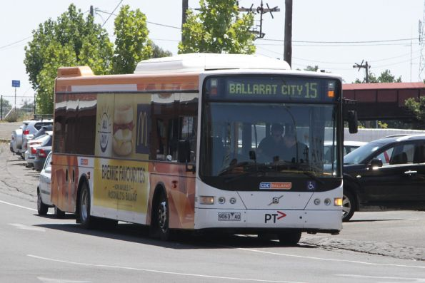 CDC Ballarat bus #186 9063AO on a route 15 service at Ballarat station