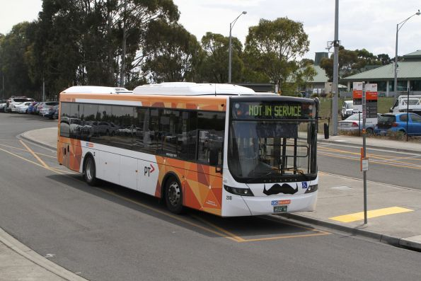 CDC Ballarat bus #200 BS02NQ with 'Movember' moustache at Wendouree station