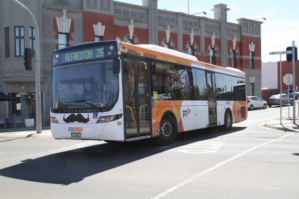 CDC Ballarat bus #200 BS02NQ on route 26 at Ballarat station