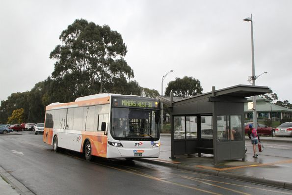 CDC Ballarat bus #195 BS02NT on route 31 at Wendouree station