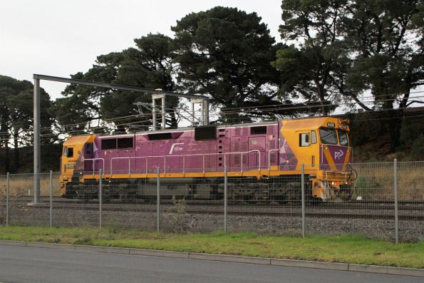 N459 heads light engine out of Sunshine after a day of driver training at Ballarat