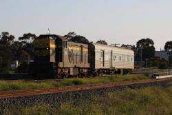 Waiting for an up pass and up SG freight, before crossing over at North Geelong Junction