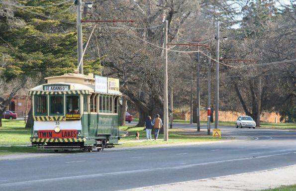 Tram 33 heads east to St Aidans Drive