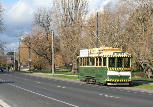 Tram 33 departs the St Aidans Drive terminus